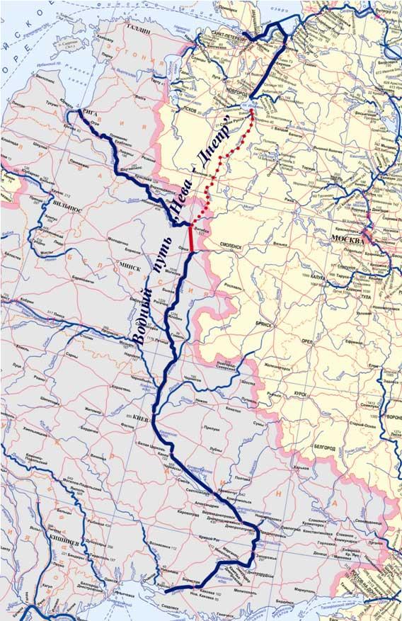 Схема водного пути «